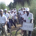 Bike riding to protect forests