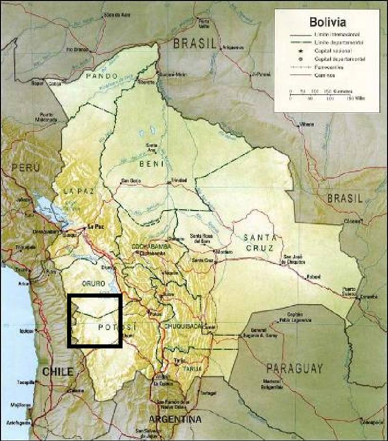 Mapa Bolivia-Intersalar