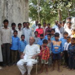 Bhawani with community people to protect trees